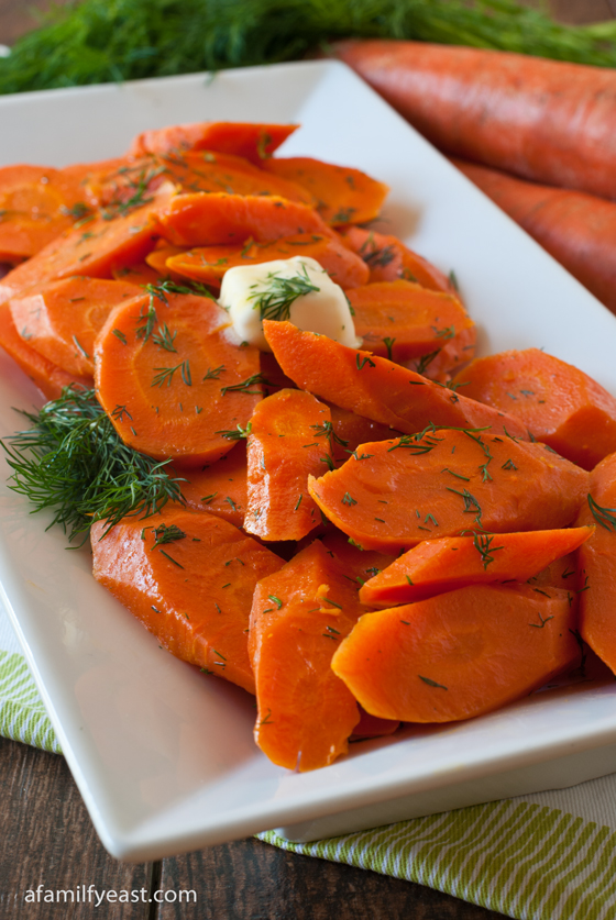 A simple and delicious way to prepare fresh carrots with butter and dill.