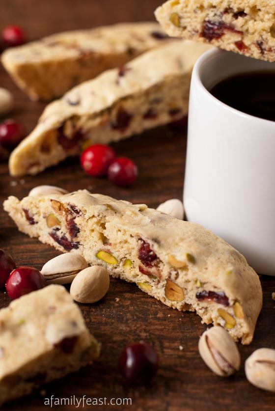 Cranberry Pistachio Biscotti - A Family Feast