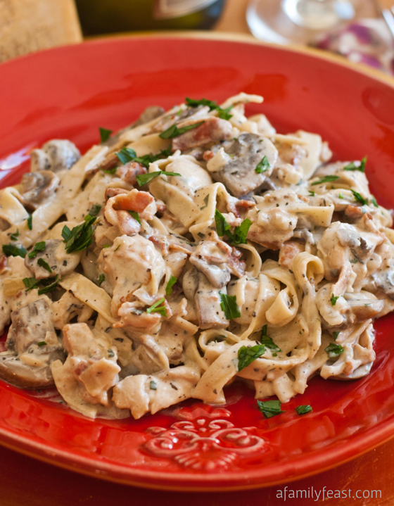 Chicken Alla Boscaiola - A Family Feast