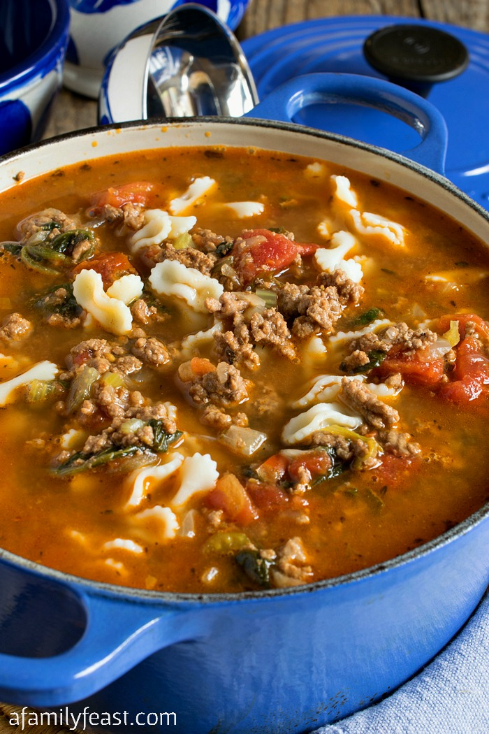 A family-favorite: Hamburger Soup! Part of our Beef Soup Series on A Family Feast.
