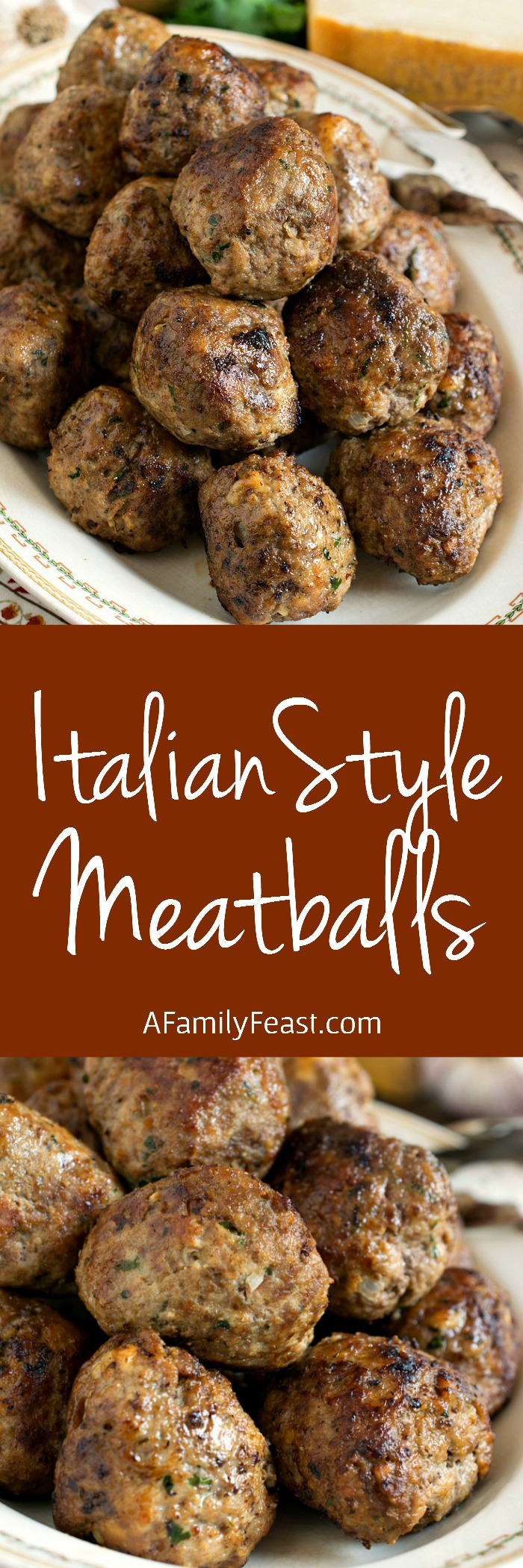 A classic recipe for Italian-Style Meatballs - moist and delicious on their own or served with your favorite Italian sauce. A recipe everyone should have in their collection!