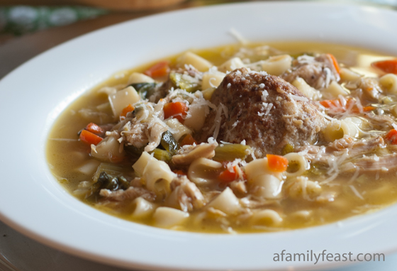 hearty soup is made with delicious homemade chicken stock , Italian ...