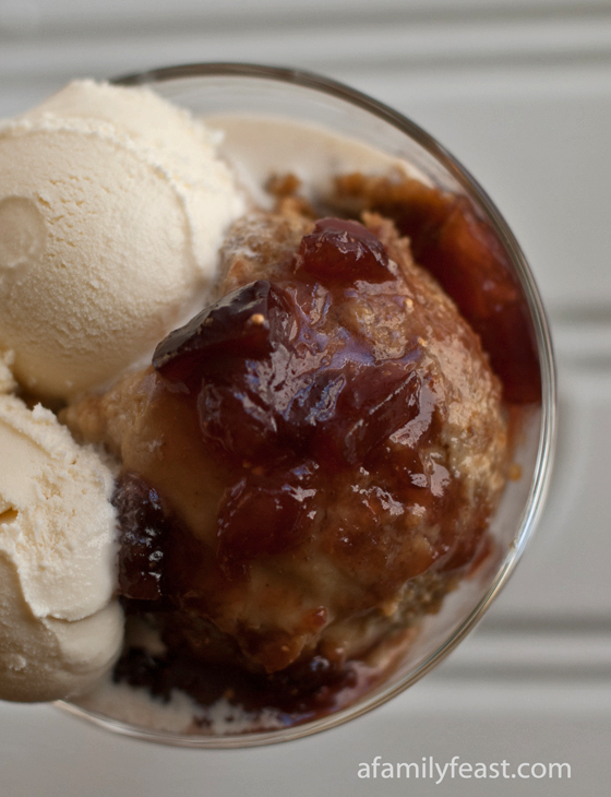 An updated version of the classic New England dessert - Grapenut Pudding with a delicious fig sauce.