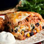 Mexican Lasagna with White Sauce