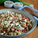 Lentils with Brown Rice and Feta
