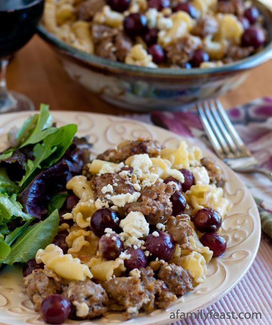 Pasta L'uva with Gorgonzola - A Family Feast