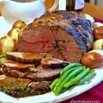 Roasted Boneless Lamb with Red Wine Pan Sauce