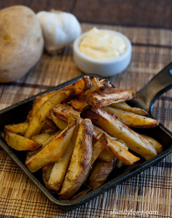 Delicious and flavorful Roasted French-Style Potatoes - the perfect side dish for roasted meats or a gourmet burger.