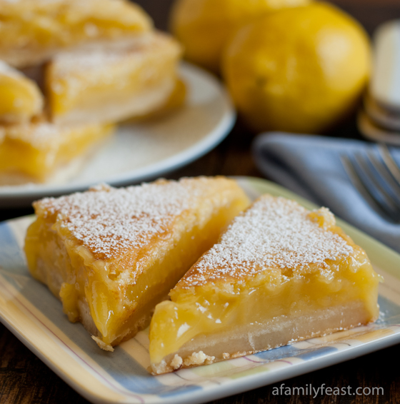 Lemon Bars - A Family Feast