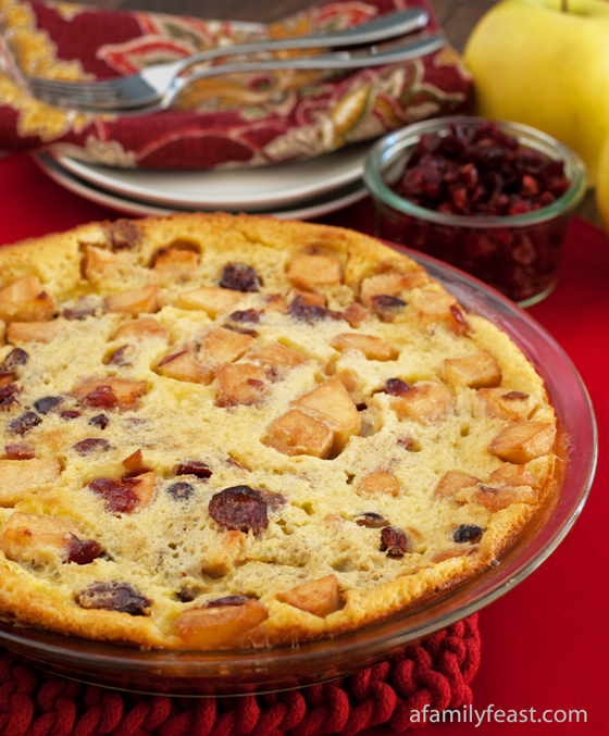 Cranberry Apple Clafoutis - A Family Feast