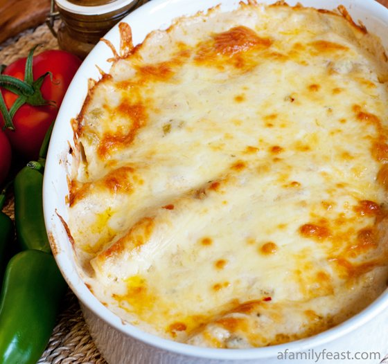 Chicken Enchiladas with White Sauce - A Family Feast