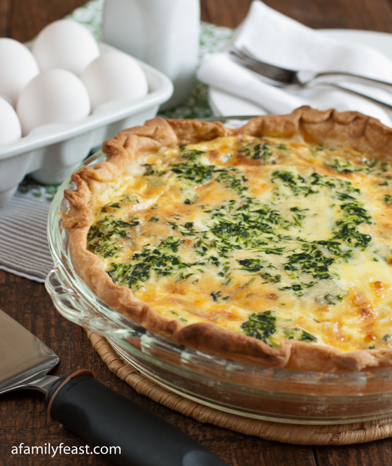 A delicious spinach and cheddar quiche recipe. Our guests love having this for breakfast!