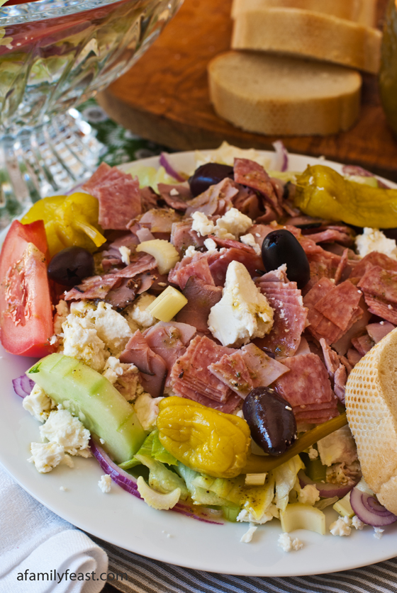 Greek Salad with Meat - A Family Feast