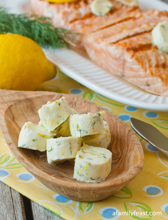 Lemon Dill Compound Butter recipe - a simple way to add great flavors to a meal!