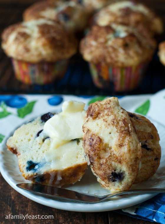 Blueberry Cream Cheese Muffins - A Family Feast