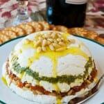 Goat Cheese, Pesto and Sun-Dried Tomato Terrine