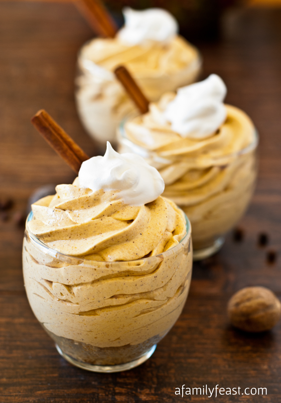 The ORIGINAL recipe...No-Bake Mini Pumpkin Cheesecake - a creamy and delicious cheesecake mousse with pumpkin pie spice flavor!