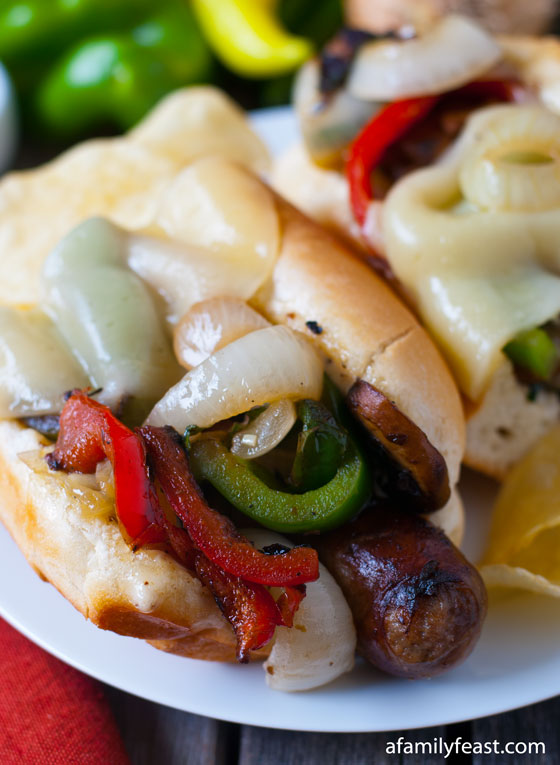 Italian Sausage Sub with Toasted Fennel Aioli - A Family Feast