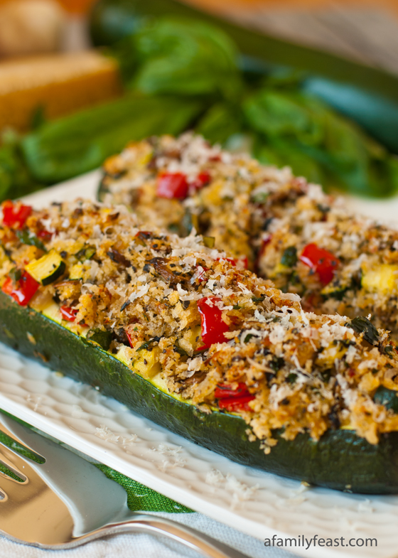 Vegetarian_Stuffed_Zucchini - A Family Feast