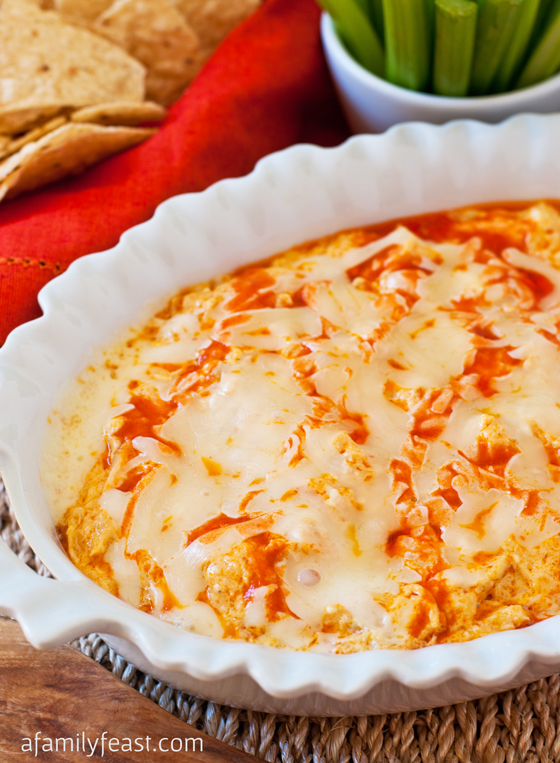 Buffalo Chicken Dip - An addictively delicious creamy and zesty dip that is perfect for game day parties (or anytime of the year)!