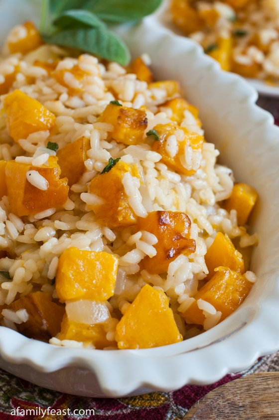 Butternut Squash Risotto - A Family Feast