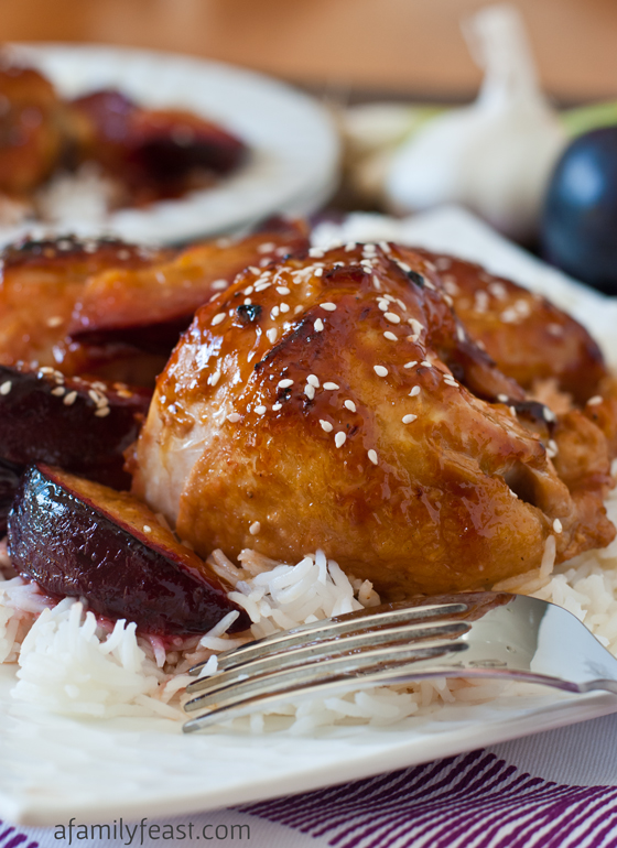 Chicken with Sweet and Sour Plum Sauce - a super delicious recipe with ...