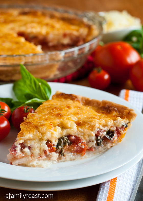 Tomato Pie - This is so addictively delicious! The perfect way to bake ...