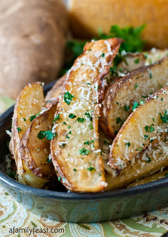 Parmesan Truffle Fries - A Family Feast