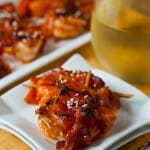 Sweet and Spicy Shrimp, Pineapple and Bacon Skewers
