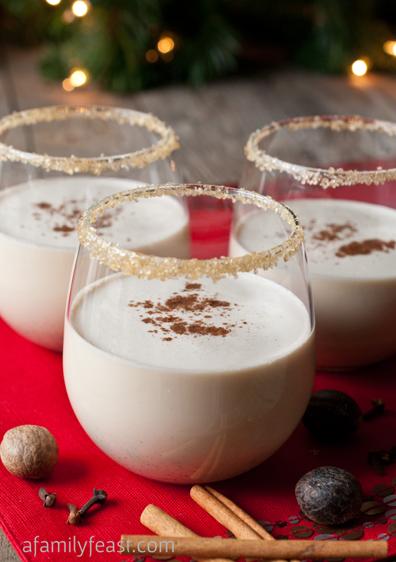 Spiced Eggnog Cocktail - A Family Feast