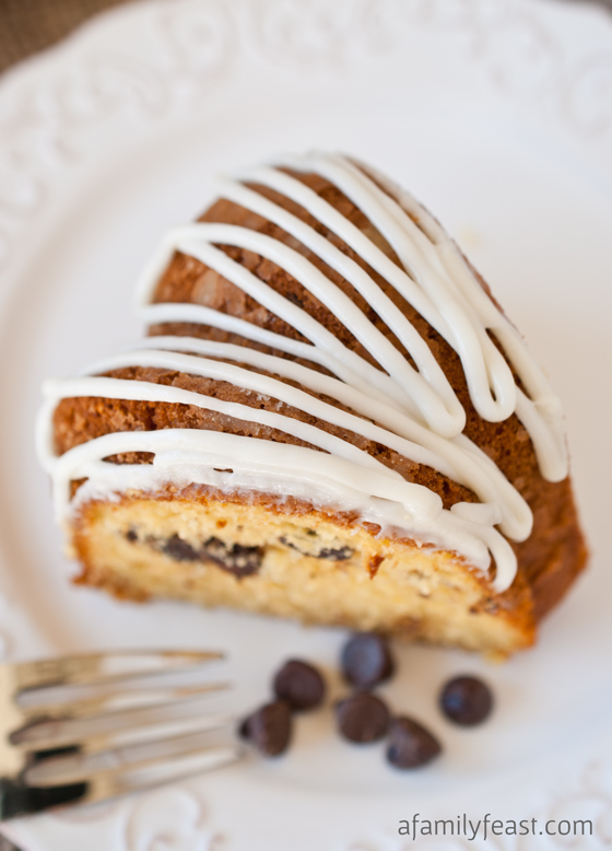 Spiced Eggnog Chocolate Chip Cake - A Family Feast