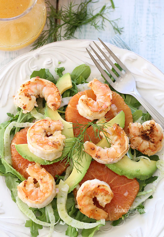 Grilled Shrimp Avocado Fennel - 20 Sensational Healthy Salads
