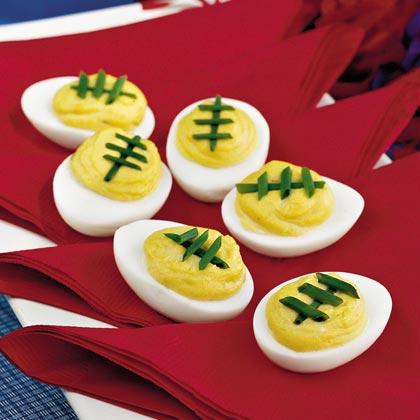 Spicy Sweet Deviled Eggs - 15 Fun Football Foods
