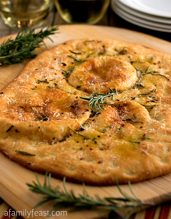 Rosemary Flatbread - A Family Feast