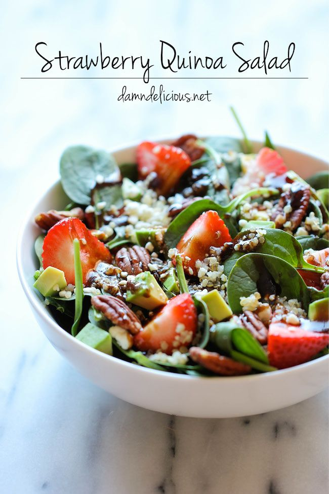 Strawberry Quinoa Salad - 25 Sweet & Savory Strawberry Recipes
