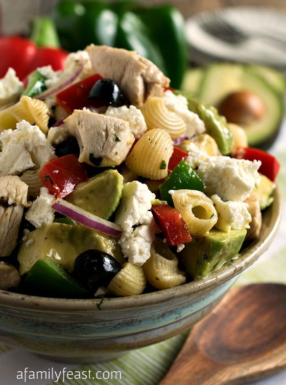 Avocado Chicken Pasta Salad - A Family Feast