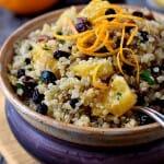 Quinoa Salad with Pecans, Orange and Currants