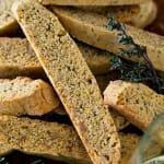 Olive Oil & Herb Savory Biscotti