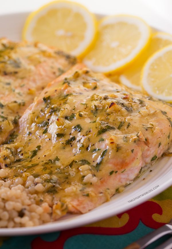 Baked Salmon with Honey Dijon and Garlic - 25-Plus Delicious Dijon Recipes
