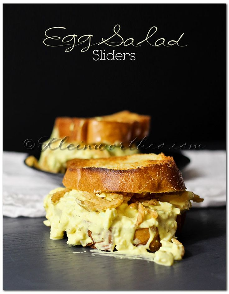 Egg Salad Sliders - Cheddar Bacon Egg Salad - Deviled Egg Salad Sandwiches - Jalapeno, Caper, and Avocado Egg Salad - 12 Eggs-cellent Egg Salad Recipes