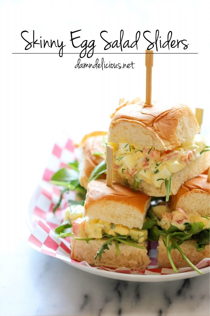 Skinny Egg Salad Sliders - 12 Eggs-cellent Egg Salad Recipes