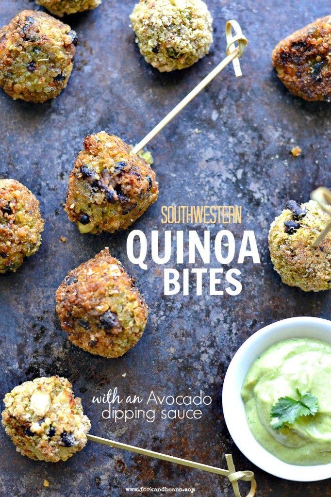 Southwestern Quinoa Bites with Avocado Dipping Sauce – 20-plus Awesome Avocado Recipes
