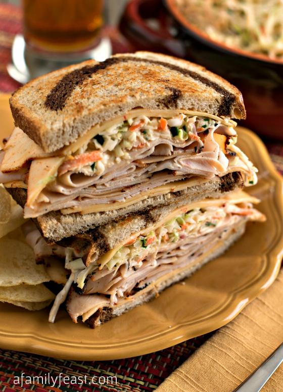 Southwestern Rachel Sandwich with Southwestern Slaw: Boar's Head ...