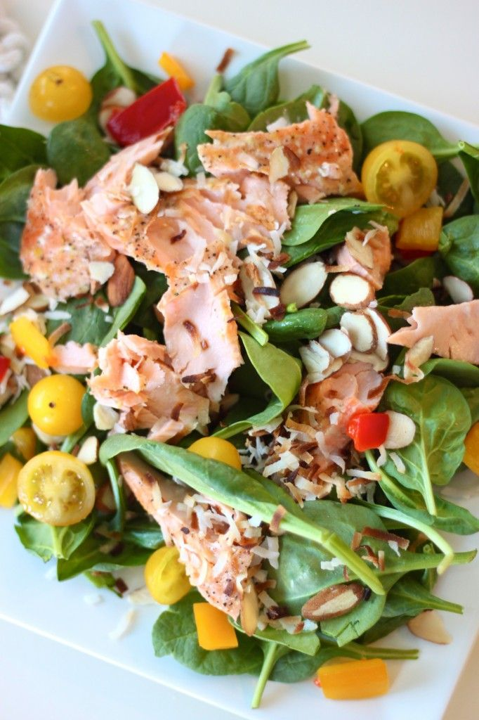 Summer Salmon Salad w/ Honey Dijon Dressing - 25-Plus Delicious Dijon Recipes