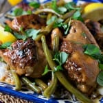 Braised Chicken Limoncello with Green Beans - A Family Feast