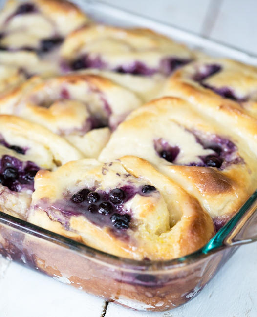 Blueberry Lemon Rolls - 25+ Best Blueberry Recipes