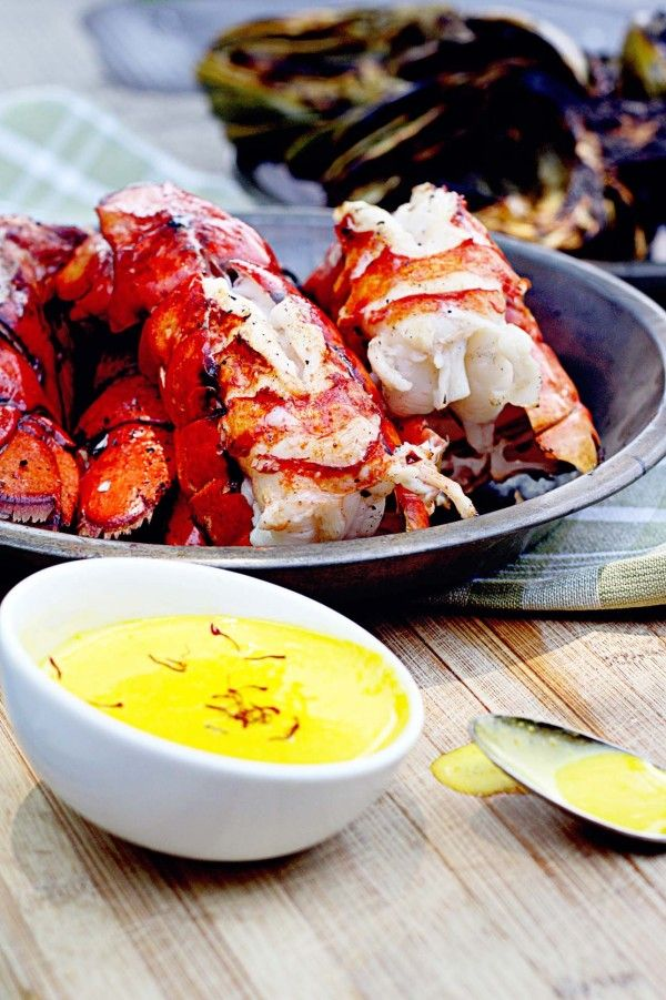 Grilled Lobster Tails with Saffron Butter - 30-Plus Great Grilling Recipes