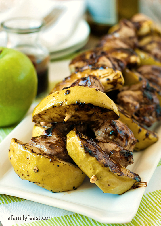 Pork and Apple Skewers - A Family Feast