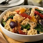 Grilled Chicken with Roasted Vegetables and Whole Wheat Couscous - A Family Feast