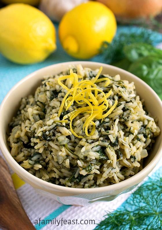 simple, flavorful Greek Rice recipe, also known as Spanakorizo.